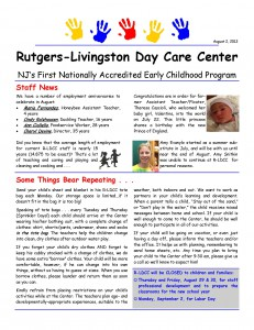 daycare newsletter - Template