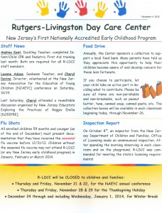 daycare newsletter