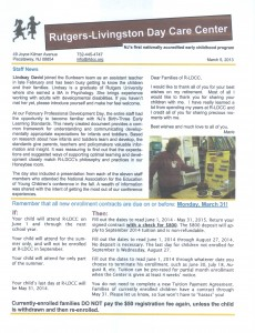 R-LDCC newsletter for March 2014